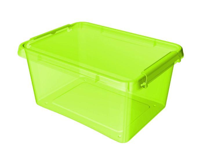 box 12,5 l COLOR-1522 zel., 39x29x16,5cm, plast