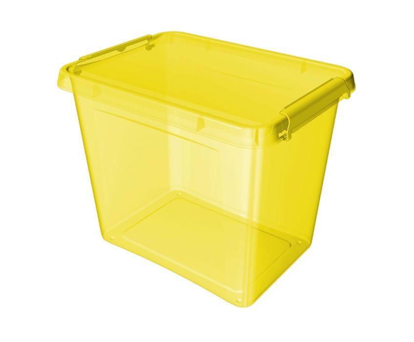 box 19l 39x29x26cm, žlutý tr.plast