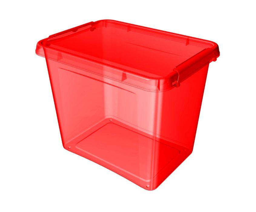 box 19,0l 39x29x26cm, červený, tr.plast