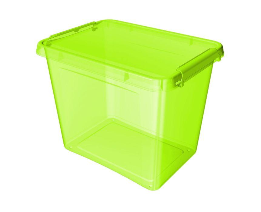 box 19,0l 39x29x26cm, zelený, tr.plast