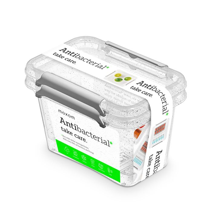 antibakter.box  0,65 l -sada-2ks, 15x9,5x10,5cm, transp.plast