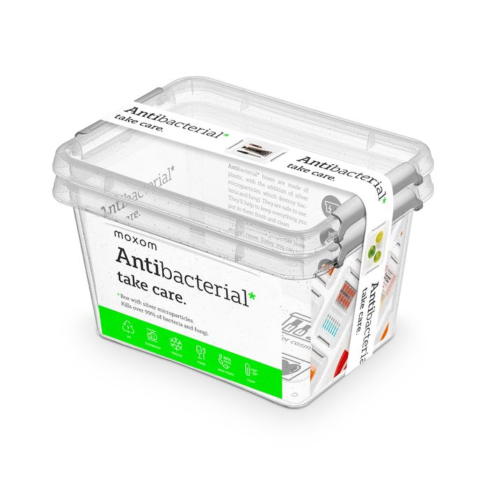 antibakter.box  2,0 l -sada-2ks, 19,5x15x12,5cm, transp.plast