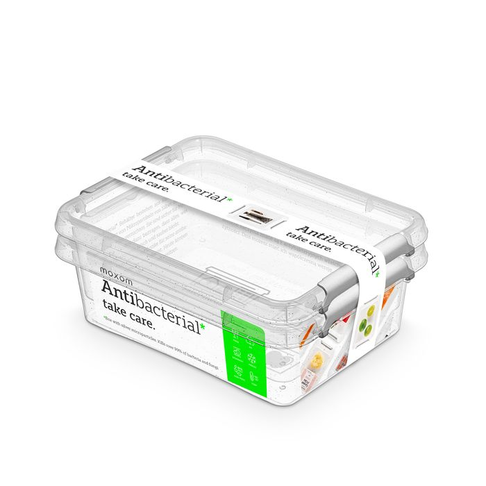 antibakter.box  1,15 l -sada-2ks, 19,5x15x8cm, transp.plast
