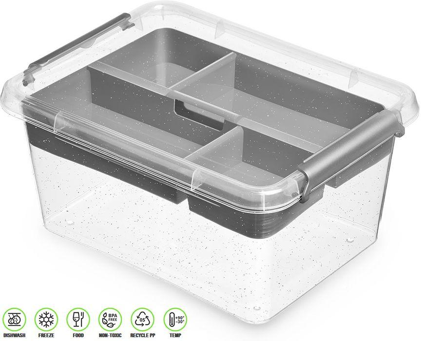 antibakter.box  1,6 l+vložka 19,5x19,5x 8,5cm,transp.plast