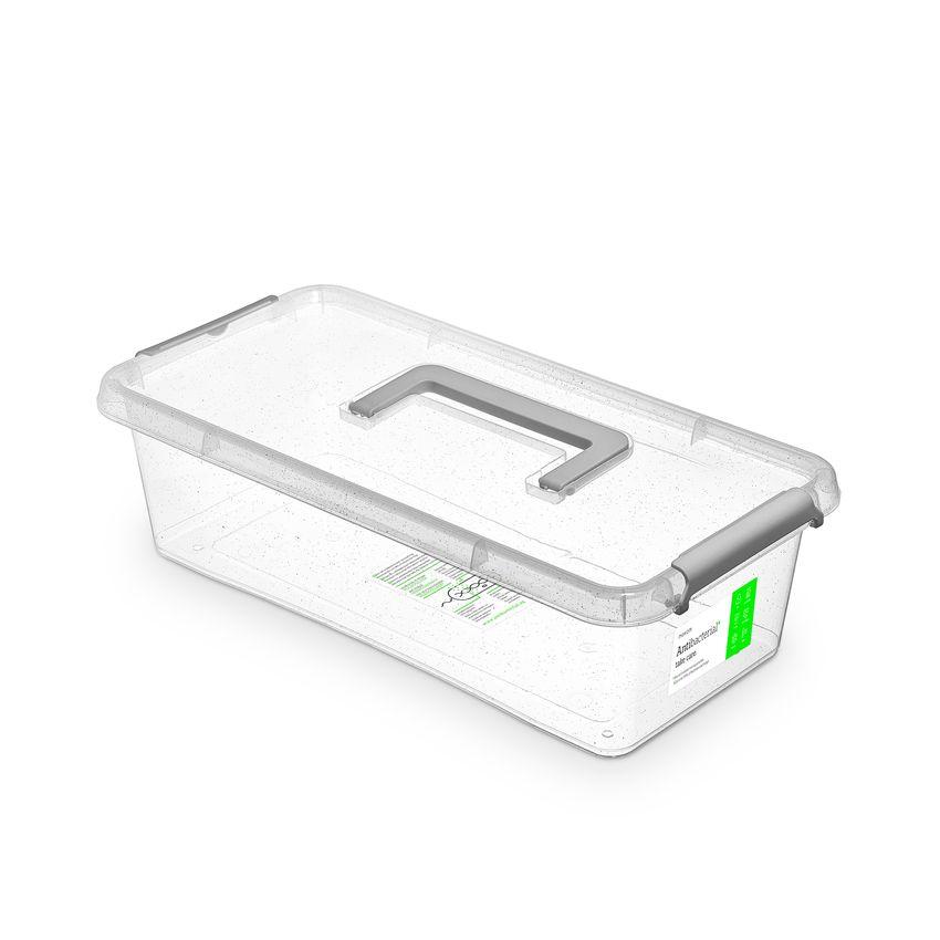 antibakter.box  6,0 l 40x20x11cm,rukojeť,transp.plast