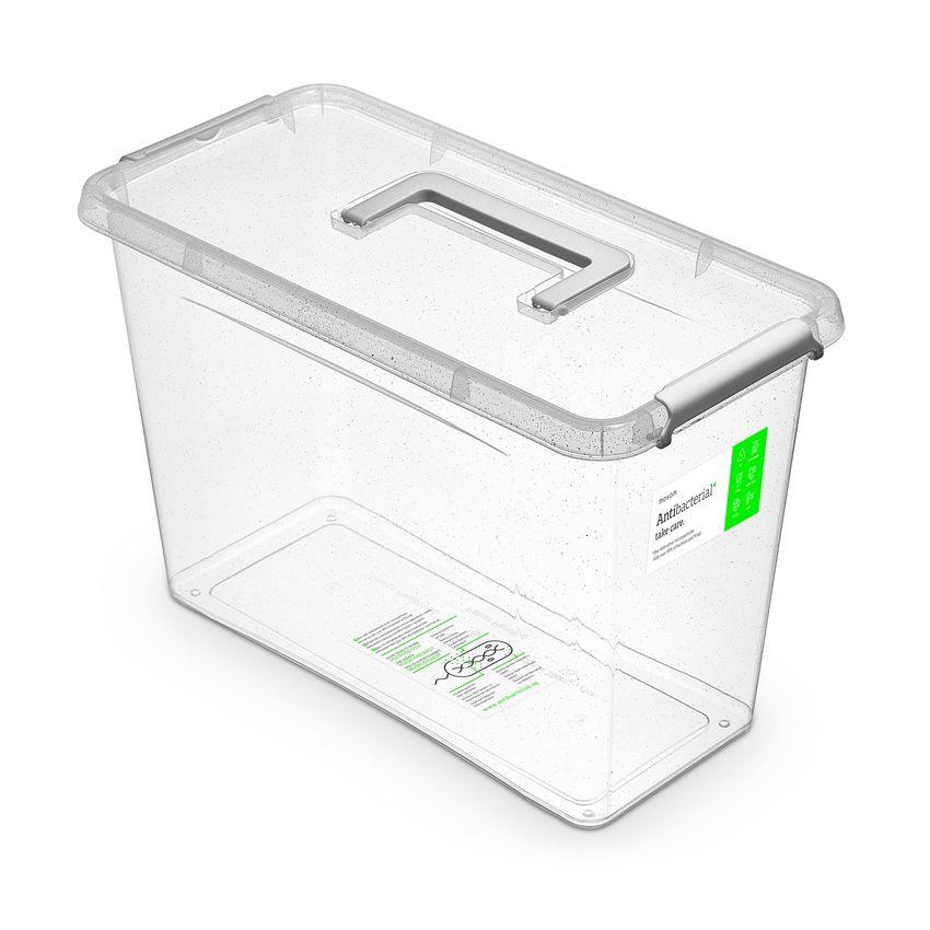 antibakter.box 13,0 l 40x20x26cm,rukojeť,transp.plast