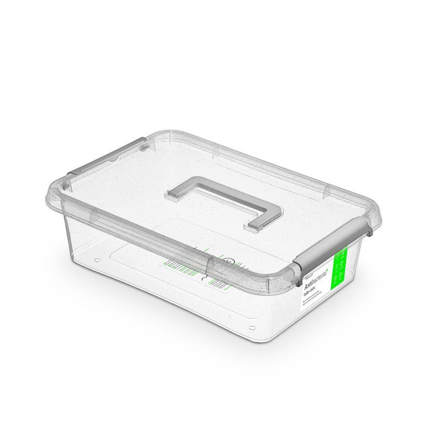 antibakter.box  8,5 l 39x29x11,rukojeť,transp.plast