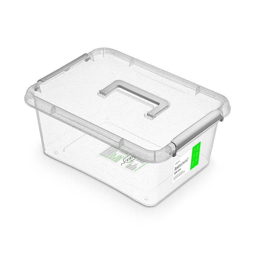 antibakter.box 12,5 l 39x29x16,5cm,rukojeť, transp.plast