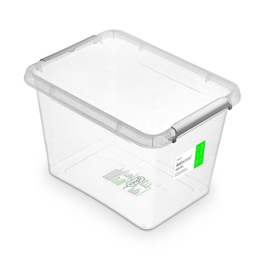antibakter.box 19,0 l 39x29x26cm, transp.plast