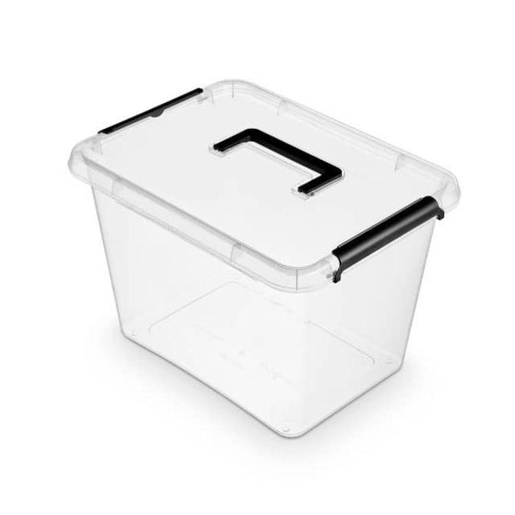 antibakter.box 19,0 l, 39x29x26cm,rukojeť, transp.plast