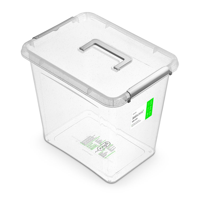 antibakter.box 30,0 l 39x29x35cm,rukojeť, transp.plast