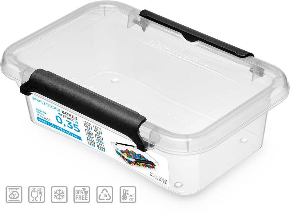 box  0,35l SIMPLE-1112, 15x9,5x4,5cm, plast