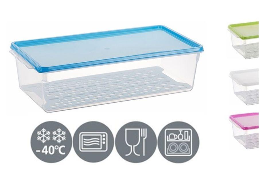 box 3,0l mrazn.,38x19x10,5cm, 3barvy, mřížka, plast