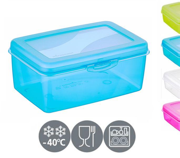 box velký svačina 19x12,8x8,0cm, klick, mix barev, plast