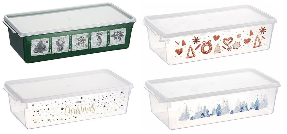 box  5,0l vánoční, 4motivy, 38x19x10,5cm, plast