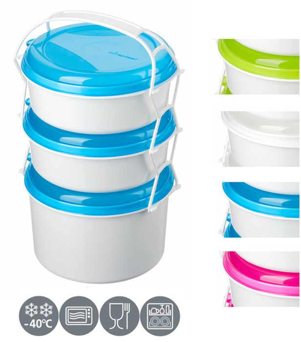 jídlonosič 3D (2x1,0l+1,9l) KOMBI, 3barvy, (i do MV trouby)
