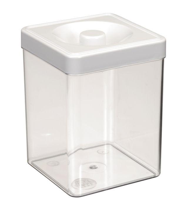 dóza 1,00l 10,0x10,0x14,0cm, čtverc., plast
