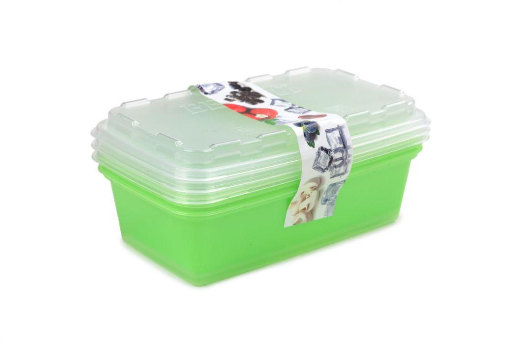 box-sada ZIP 3x1l zelená 20x12x9,5cm, do mraz.,plast