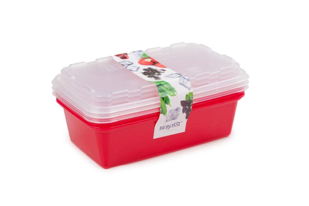 box-sada ZIP 3x1l červ., 20x12x9,5cm, do mraz., plast