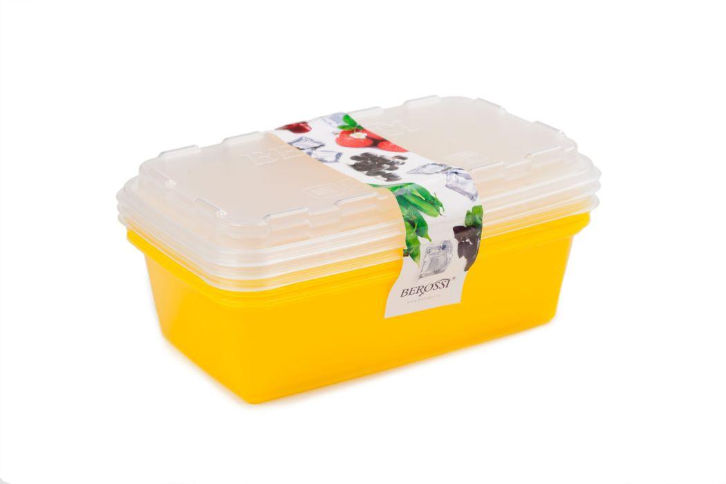 box-sada ZIP 3x1l žlutá 20x12x9,5cm, do mraz., plast