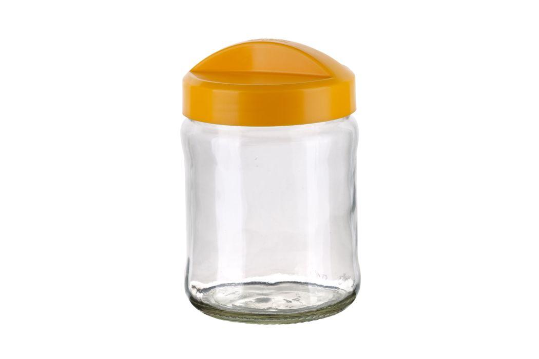 dóza 0,9l AVENA žlutá 10,9x16,5cm, sklo