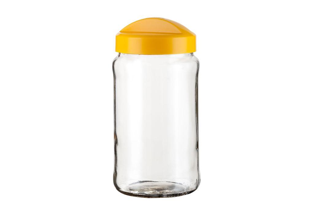 dóza 1,50l AVENA žlutá 11,5x22,6cm, sklo