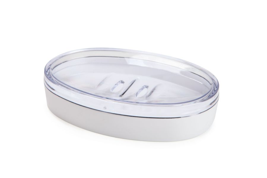 mýdlenka JOLI 13x9,4x2,8cm bílá, plast
