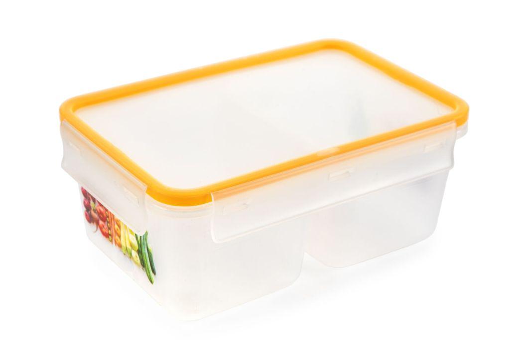 box 1,0l dvoudílný MEGA žlutý,  18,9x12,8x7,9cm