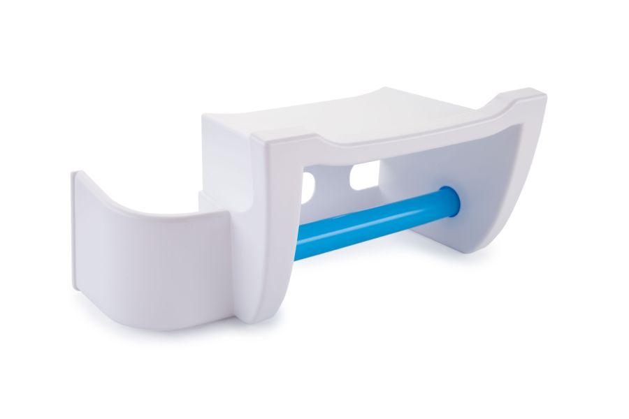 držák WC pap. MIRA modrý, polička mobil