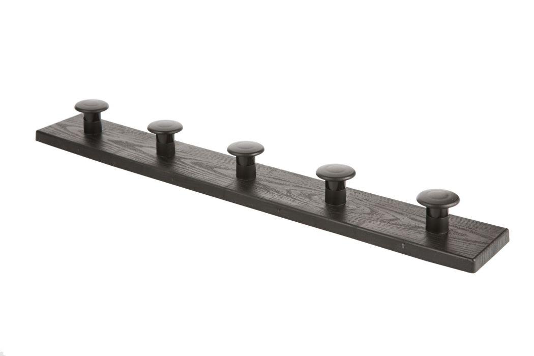 věšák 5-háčků černý 50,1x4,5x7,1cm, plast
