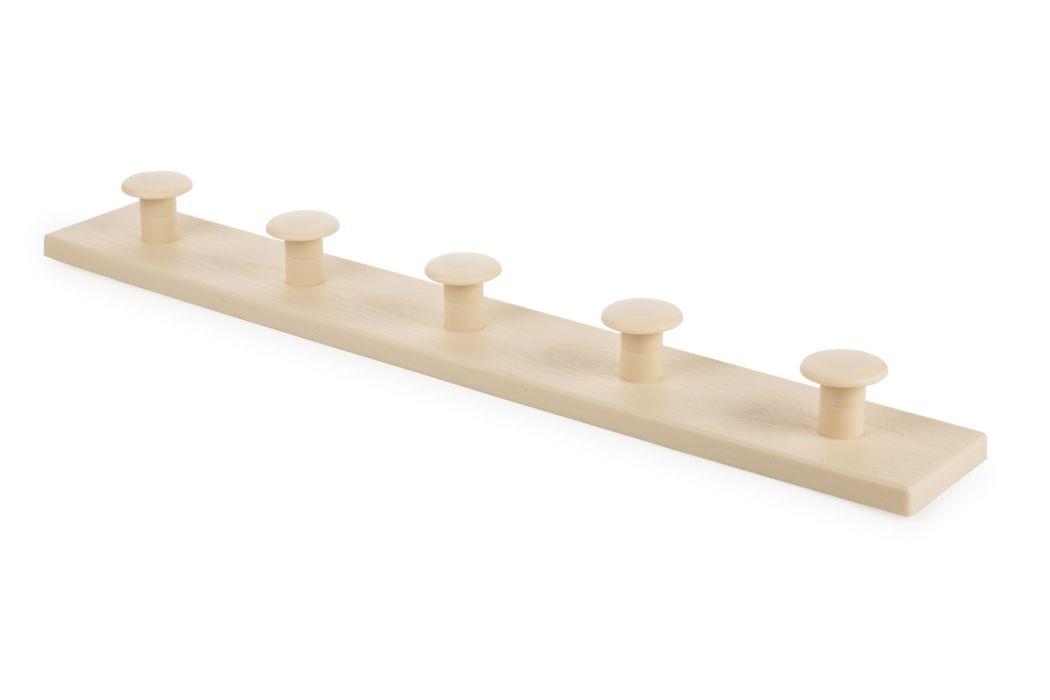 věšák 5-háčků béžový 50,1x4,5x7,1cm