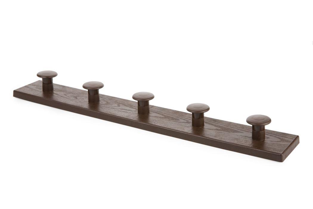 věšák 5-háčků hnědý 50,1x4,5x7,1cm, plast