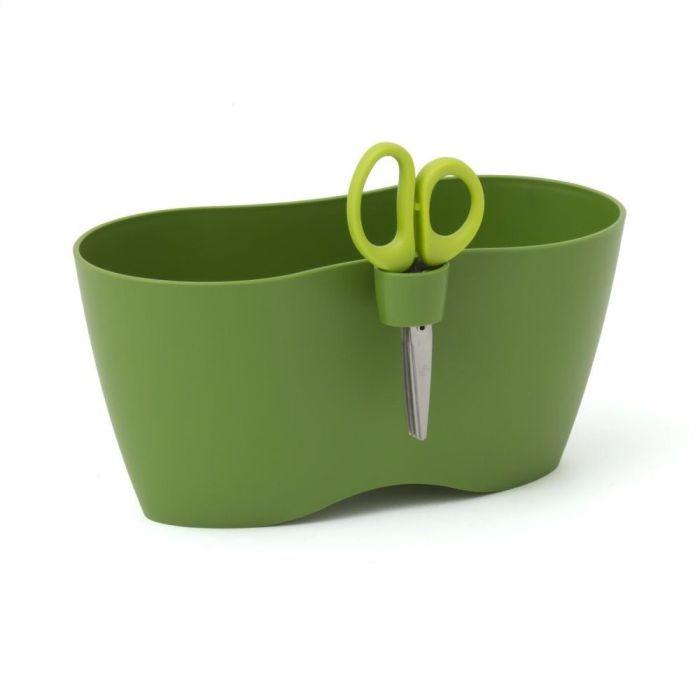 květ.25cm LIMES DUBLO oliva,bylinky+nůžky-389U