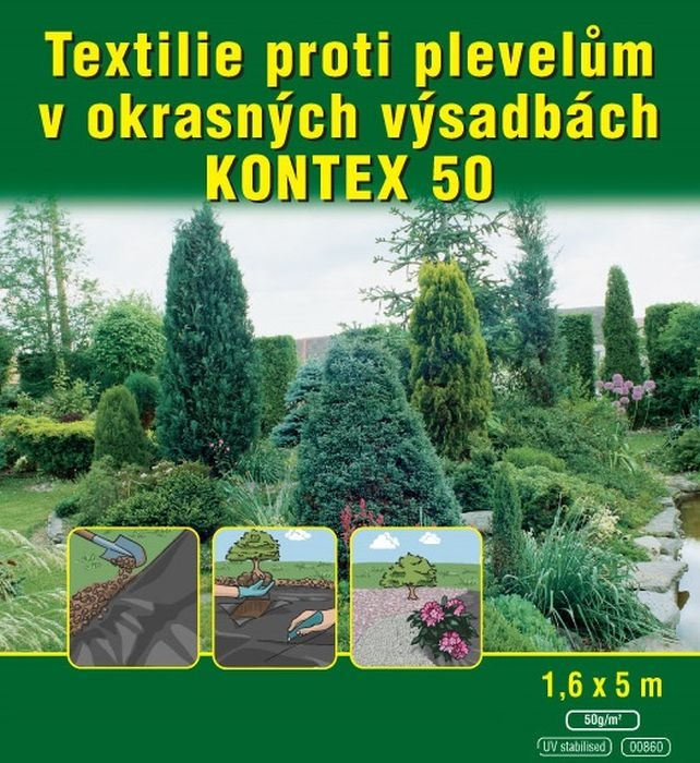 text.netk.1,6x 5m ČERNÁ mulčovací