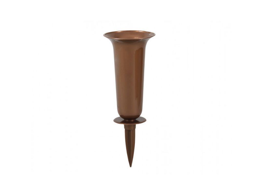 váza d16x37cm měděná, zapich, plast