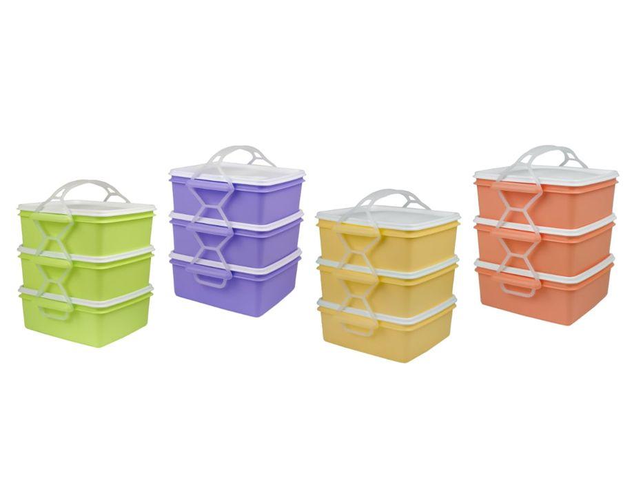 jídlonosič 3D (3x1,4l) ČTVERCOVÝ