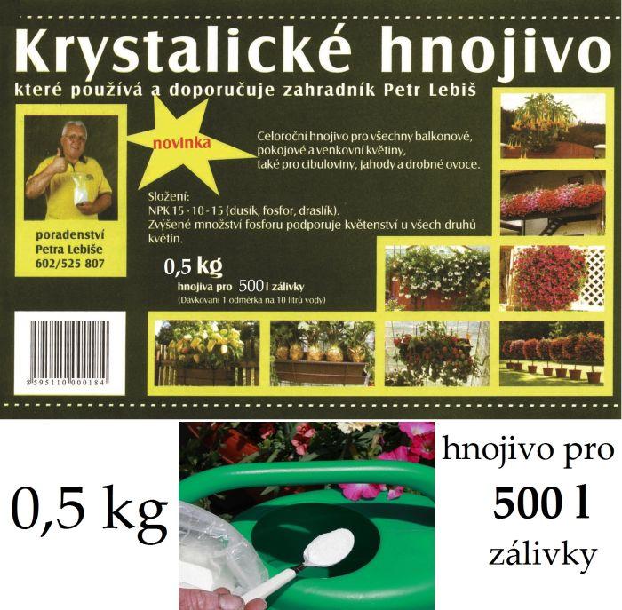 hnojivo krystalické 0,5kg+lžíce LEBIŠ
