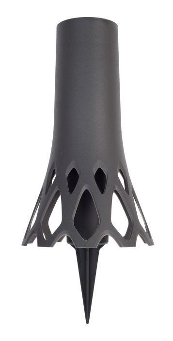 váza d10x34,5cm ROSETA 1,3l ANTRACIT zapichovací