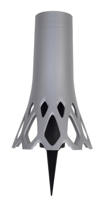 váza d10x34,5cm ROSETA 1,3l STŘÍB. zapichovací