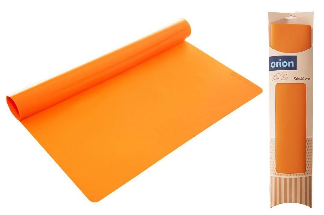 vál 50x40x0,10cm kuchyňský silikon, oranž