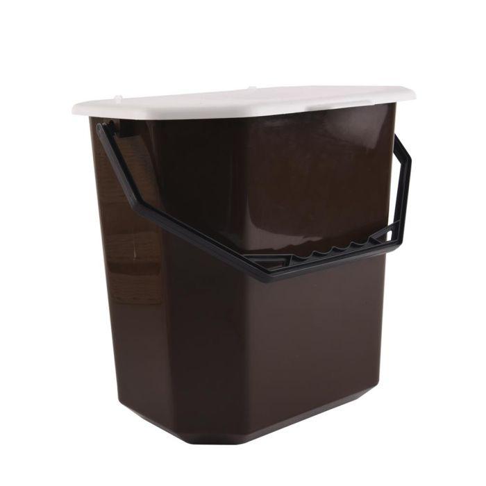 koš odp.10l kbelík univ.hnědý 31x23x30cm závěs