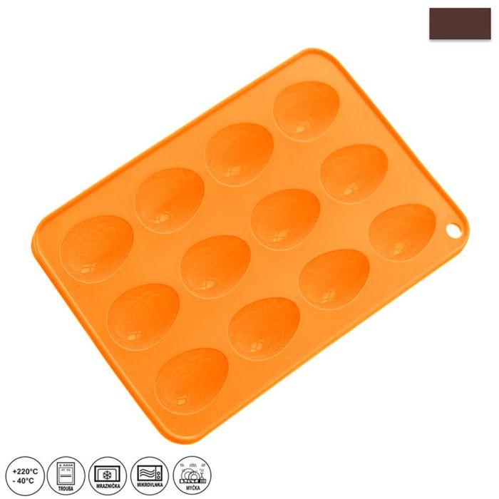 forma vajíčka 12ks-silikon 23,5x15x1,5cm