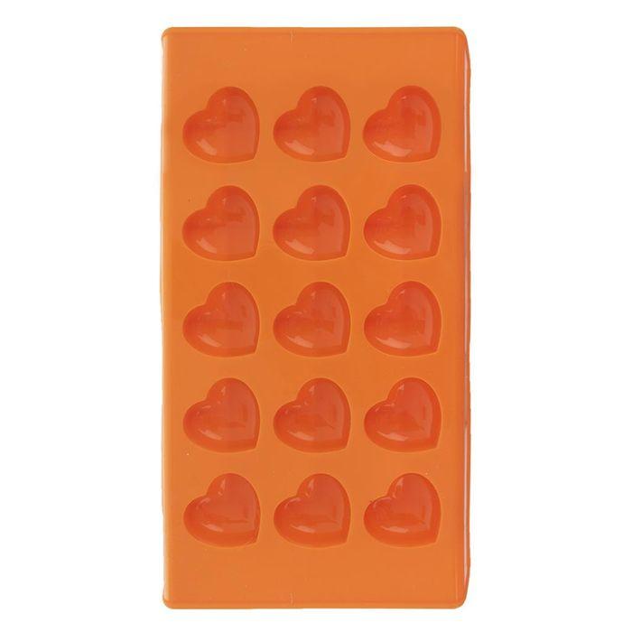 forma SRDCE 15 (3cm) oranžová-silikon 22x11,5x2cm