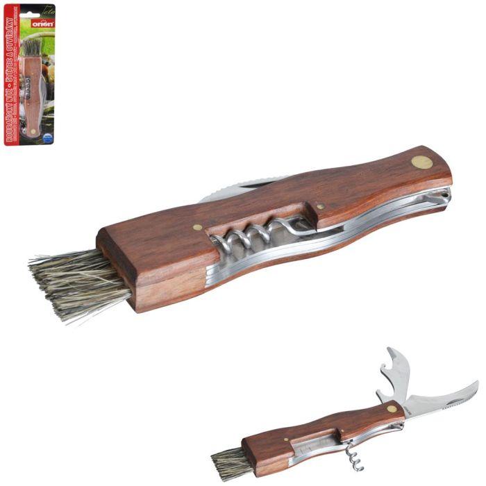 nůž houbařský+štětec, d13/20,5cm