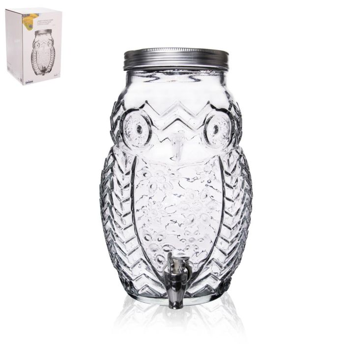 láhev 5,2l sklo SOVA s kohoutem