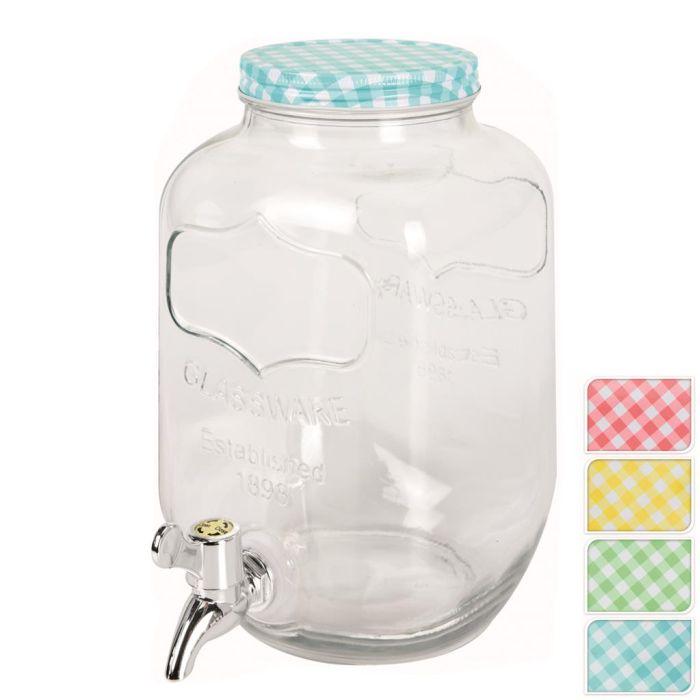 láhev 4,0l sklo s kohoutem
