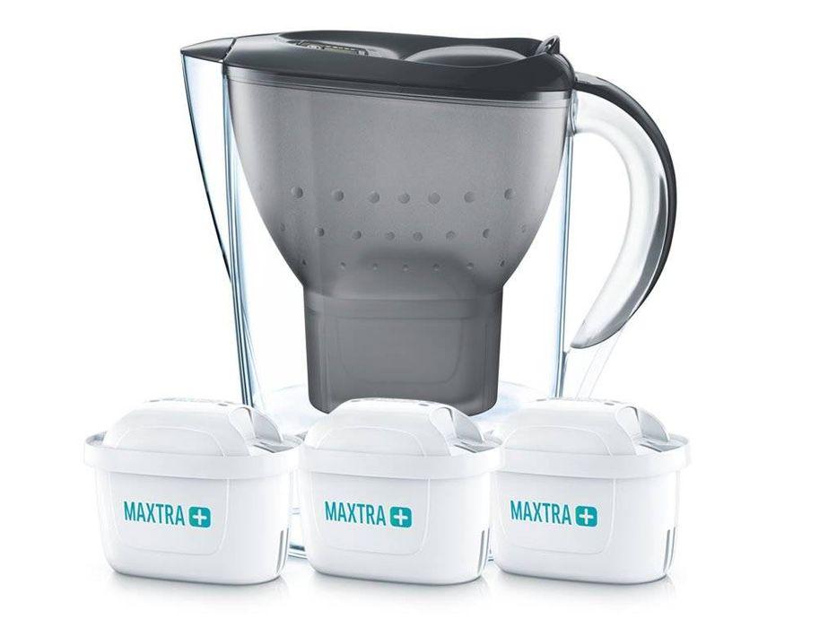 konvice 2,4l MARELLA černá, 3filtry MAXTRA PLUS+