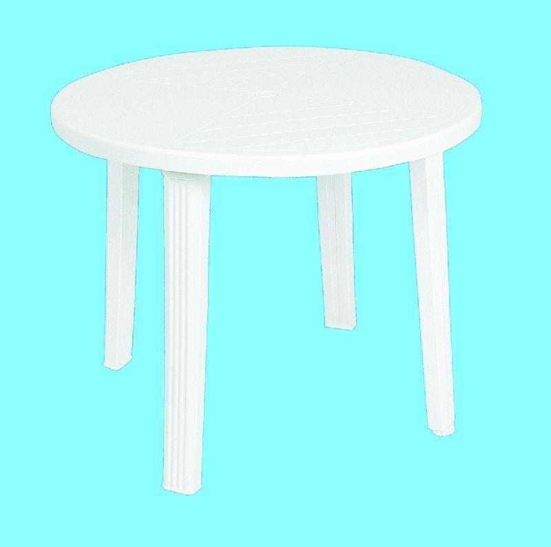 stůl d90  bílý