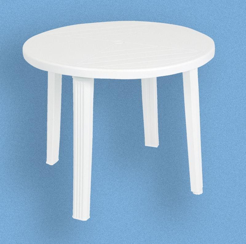 stůl d90 hnědý