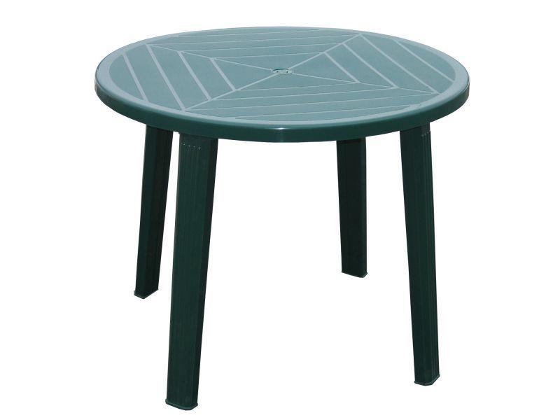 stůl d90 zelený